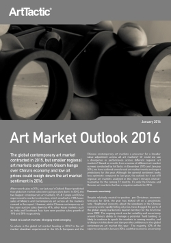 art market outlook 2016