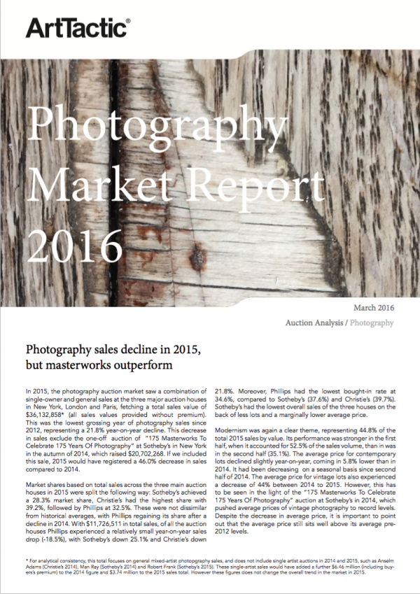 Photography Market Report - March 2016   ArtTactic