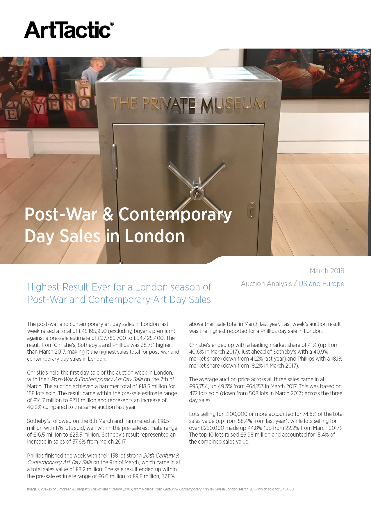 Auction Analysis London Post War & Contemporary Day Auctions